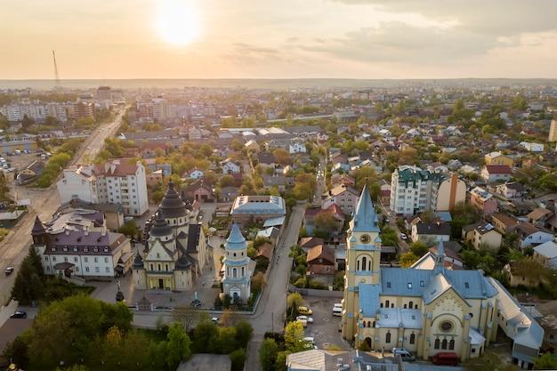 Aerial view of urban area Premium Photo