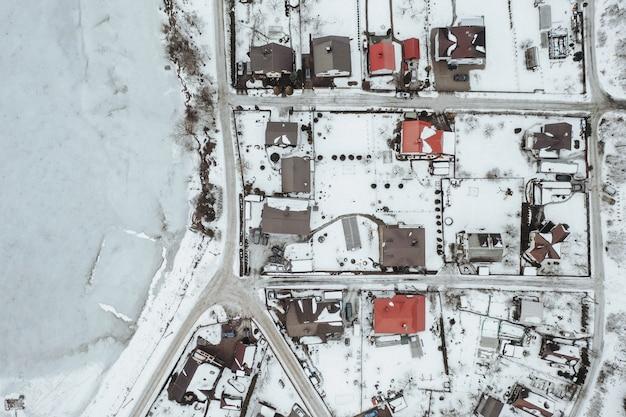 Vista aerea del villaggio Foto Gratuite