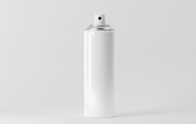 Aerosol bottle isolated on white Premium Photo