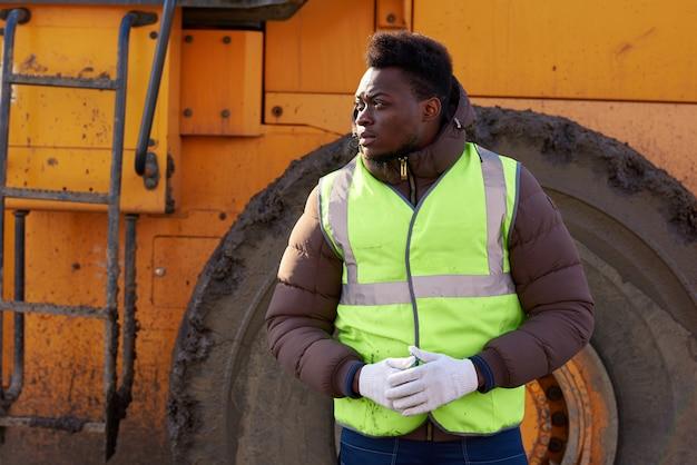 アフリカ系アメリカ人の産業労働者 Premium写真