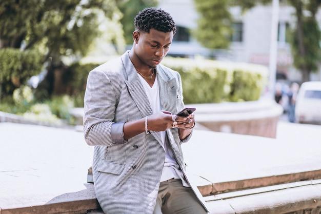 African american man using phone Free Photo