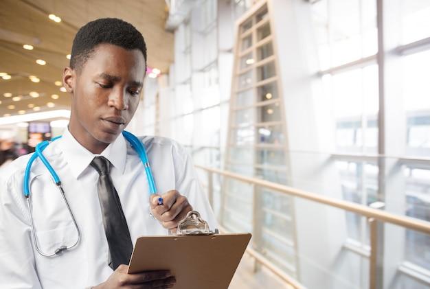 African american medical doctor man Premium Photo