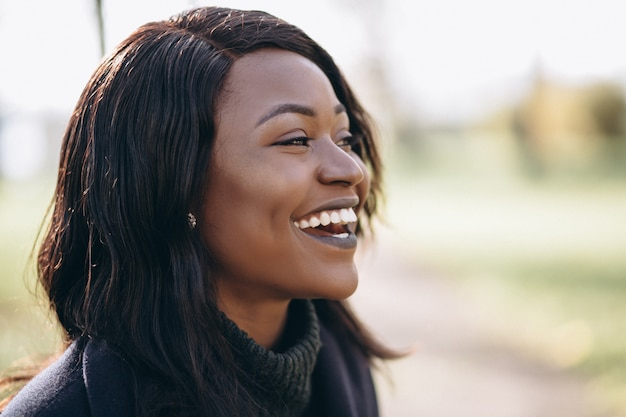 African american woman smiling portrait Free Photo