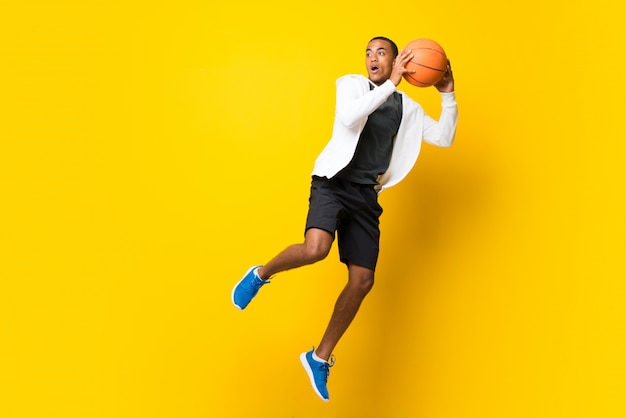 Afro american basketball player man Premium Photo