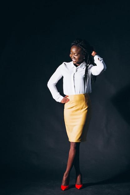 Afro american woman model in studio Free Photo
