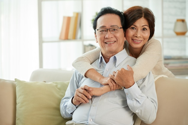 Aged couple in love Free Photo
