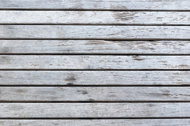Aged white wood planks background Free Photo