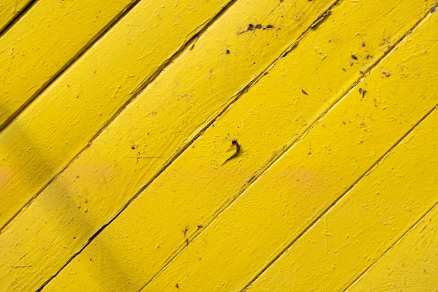 Aged yellow wooden planks background Free Photo