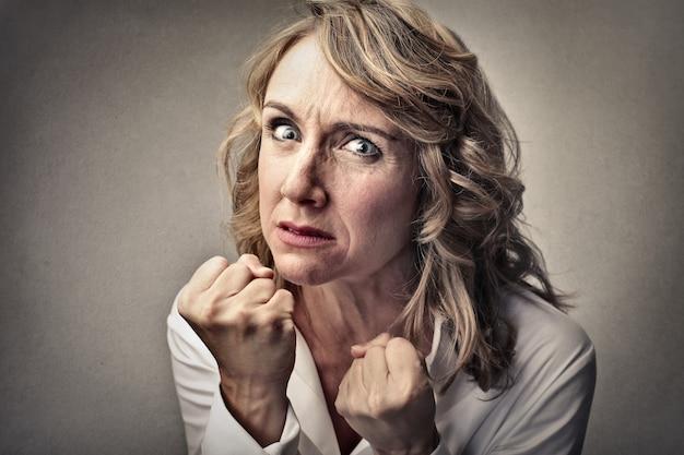 Aggressive angry woman Premium Photo