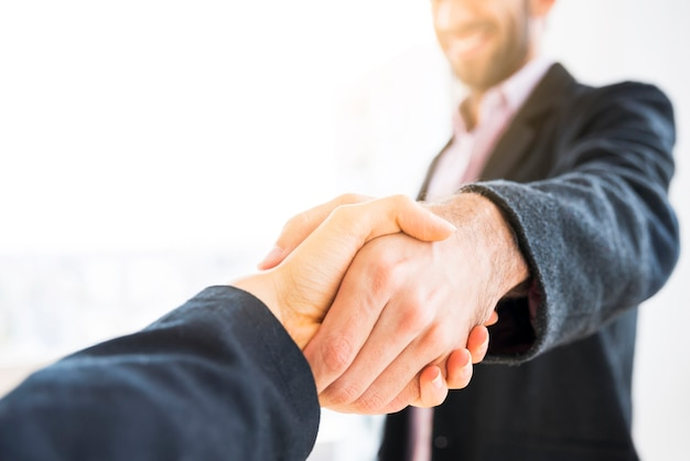 Agreement between business people Free Photo