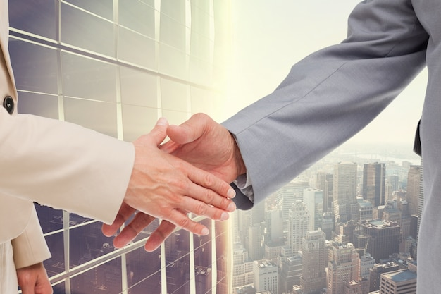 agreement urban handshake cooperation support Free Photo
