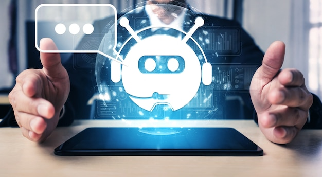 Ai chatbot smart digital customer service application concept. Premium Photo