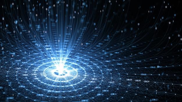 Технология искусственного интеллекта (ai) и интернет вещей iot, сетевая анимация Premium Фотографии
