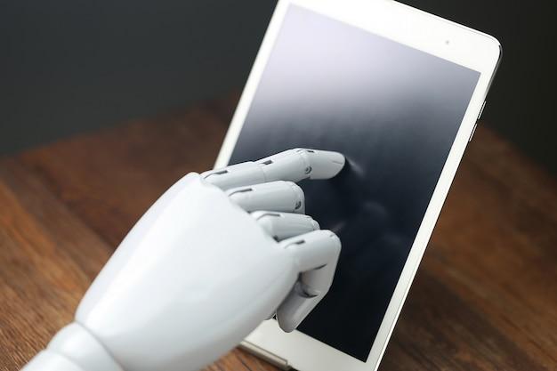 Aiロボット操作タブレット 無料写真