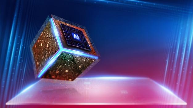 Искусственный интеллект. (ai), машинное обучение, технологии и инженерные концепции. Premium Фотографии