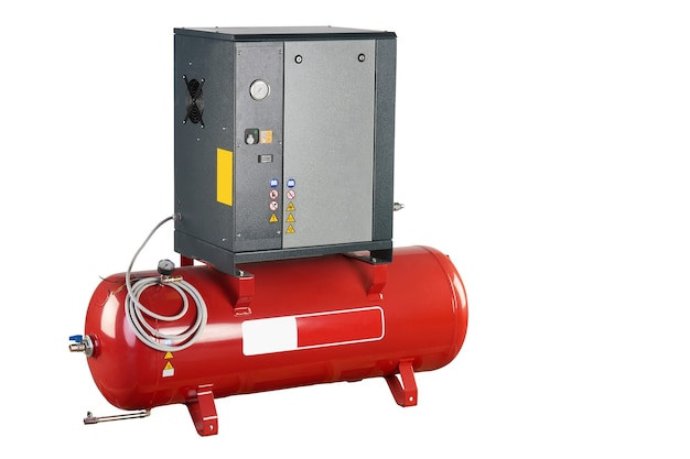Premium Photo | Air compressor. professional equipment and tools. industrial appliances. isolated background.
