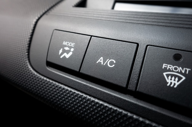Aircon on off power switch of a car air conditioning system Premium Photo