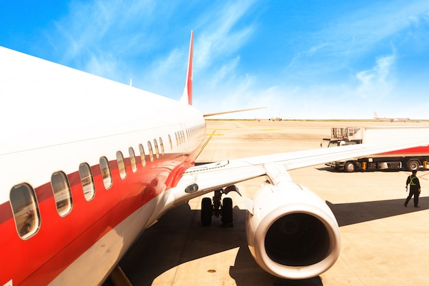 Aircraft china shanghai airport tarmac Premium Photo
