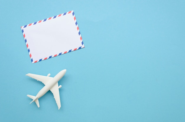 Airplane and greeting card Free Photo
