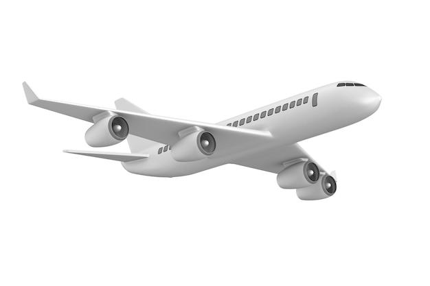 Самолет на белом пространстве Premium Фотографии