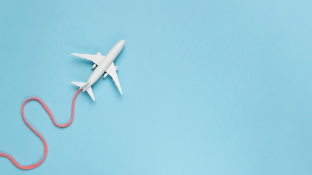 Airplane route concept Free Photo