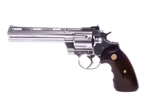 Airsoft gun in white Premium Photo