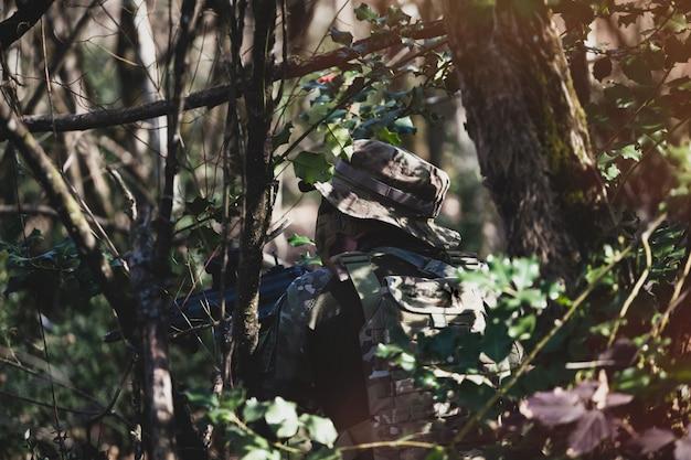 Airsoft military game Premium Photo