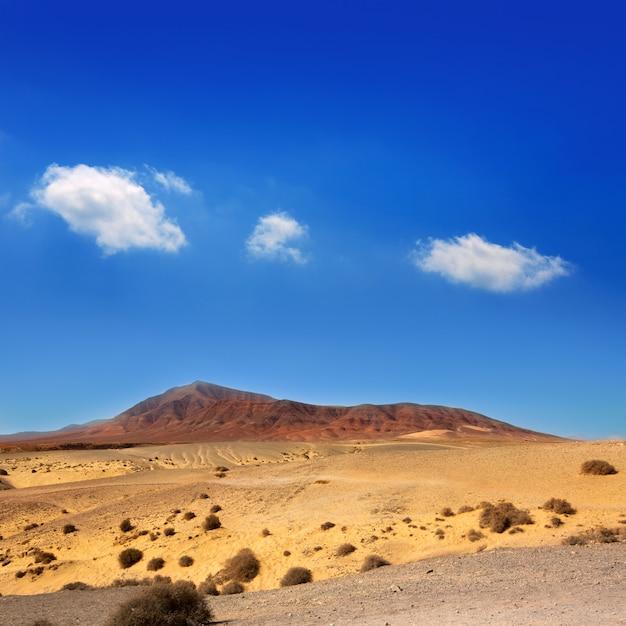 Ajaches mountain in lanzarote punta papagayo Premium Photo