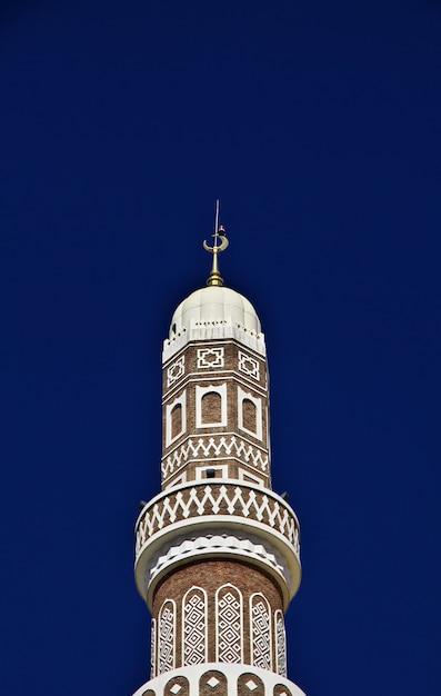Al saleh mosque, great mosque of sana'a, yemen Premium Photo