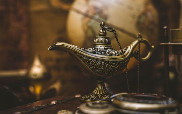 Aladdin magic lamp Premium Photo