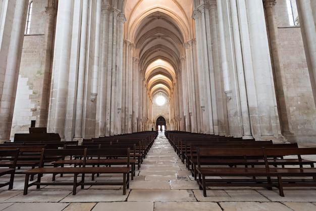 Alcobaca monastery interior Premium Photo
