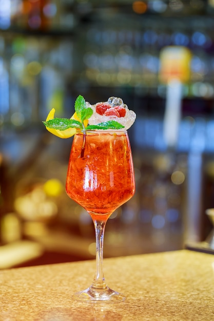Alcohol drink in a glass Premium Photo