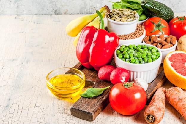 Alkaline diet ingredients Premium Photo