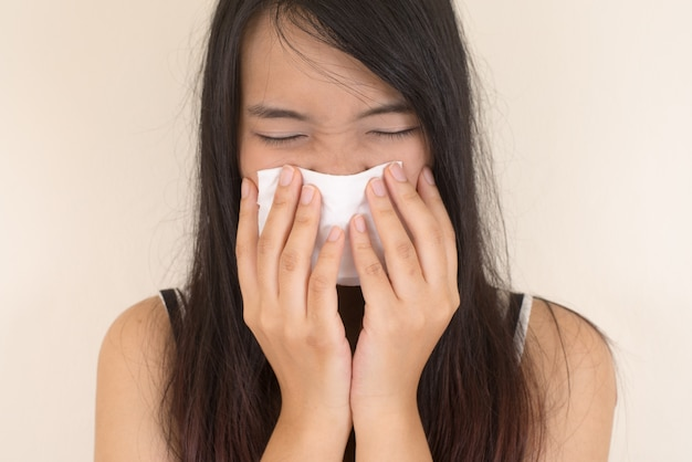 Allergy medical blank healthcare tissue Free Photo