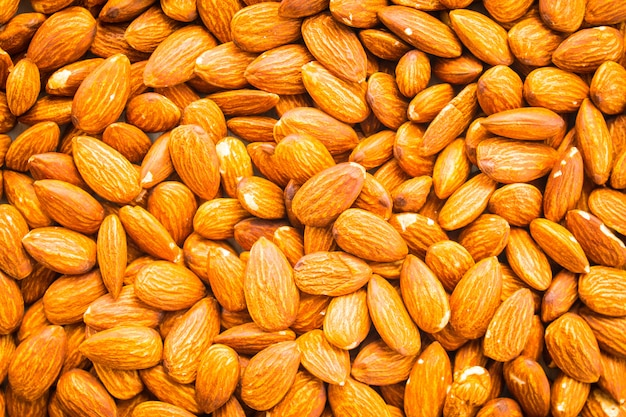 Almonds nut textures and surface with pattern Free Photo