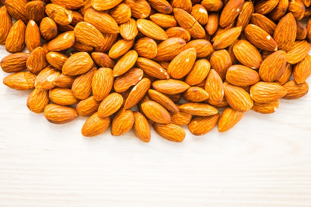Almonds nut with copy space Free Photo