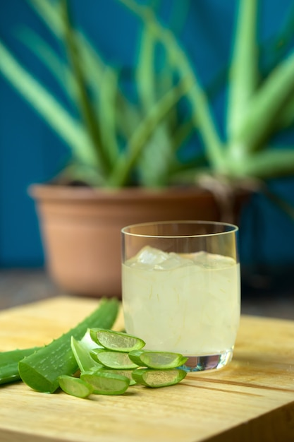 Aloe vera gel almost use in food medicine and beauty industry Premium Photo