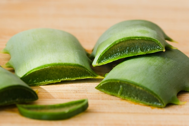 Aloe vera leaves for beauty treatment Free Photo