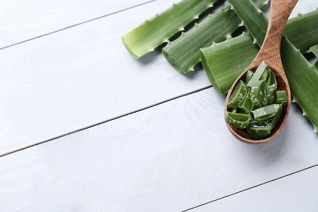 Aloe vera slices for skin care Free Photo