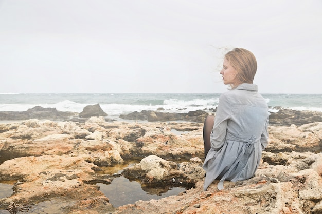 Alone at the seaside Premium Photo