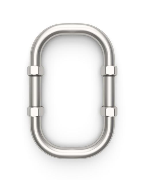 Alphabet made of metal pipe Premium Photo