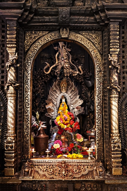 Altar in hindu temple Premium Photo