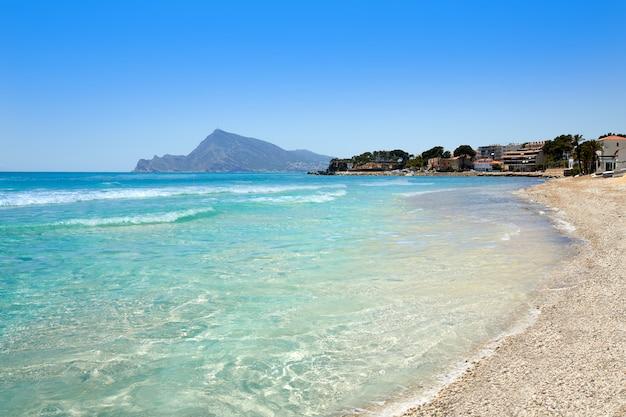 Premium Photo Altea Beach In Alicante Playa De L Olla