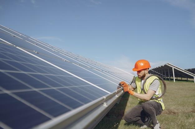 代替エネルギーの生態学的な概念。 無料写真