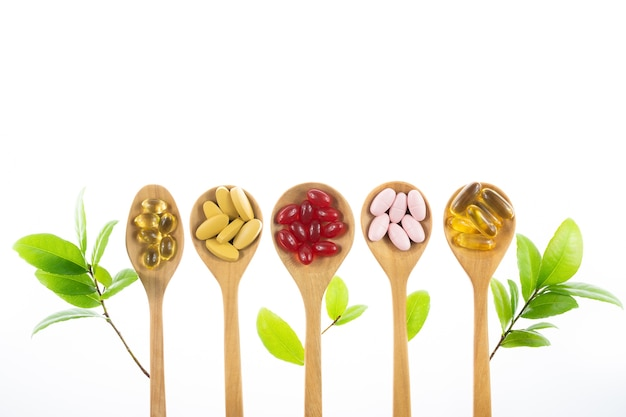 天然からの代替医療、ビタミン、サプリメント Premium写真