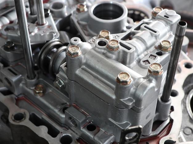 Aluminium case and parts form car gear transmission Premium Photo