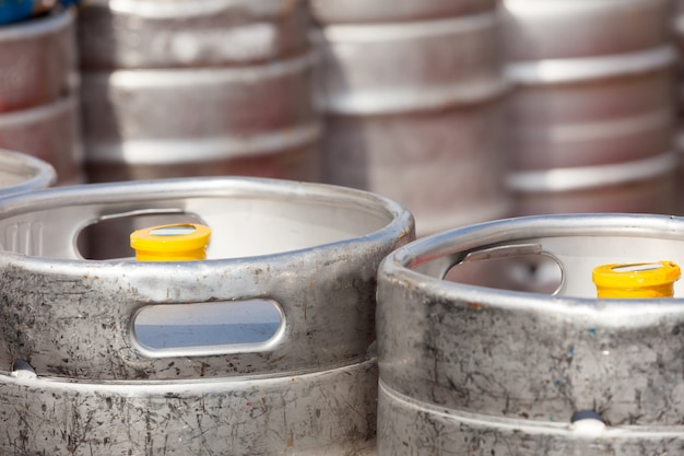 aluminum barrel beer kegs Free Photo