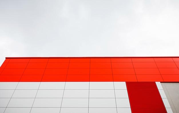 Aluminum panels of building Premium Photo