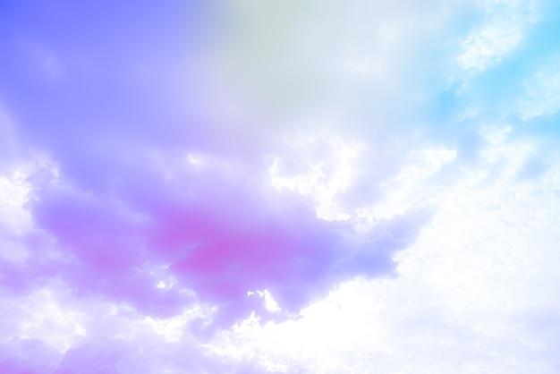 화려한 구름과 놀라운 아름다운 예술 하늘 무료 사진