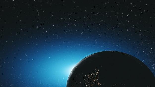 Удивительная земля вращается по звездной орбите космического пространства Premium Фотографии